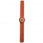 Ceas mini slap-it-on orange'