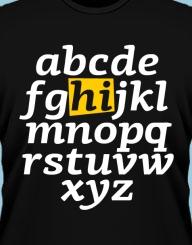 Alphabet HI!