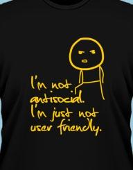 Not antisocial'
