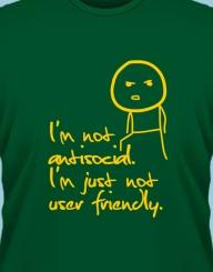 Not antisocial