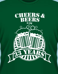 Cheers and Beers to my XX years!'