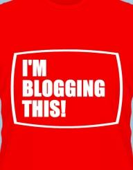 I'm blogging this'