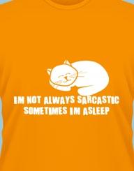 I'm not always sarcastic, sometimes I'm asleep