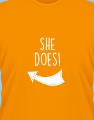 She does! (run the world)'