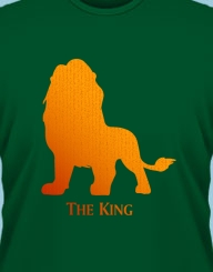The king (lion)