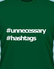 Unnecessary hashtags