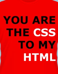 You are the CSS to my HTML'